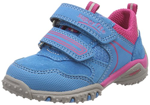 Superfit Baby Mädchen Sport4 Mini Sneaker, (Türkis Kombi), 27 EU