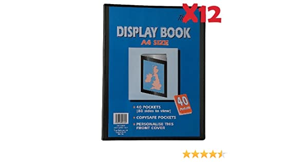 Save 20/% Saver Pack of X12 40 Views Tiger A3 Black Presentation Display Book With 20 Pockets