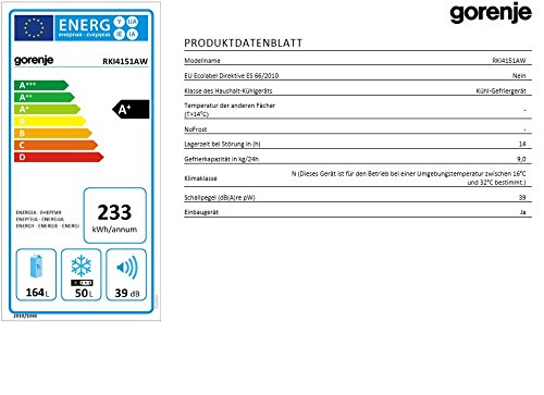 Gorenje RKI4151AW Einbaukühlschrank