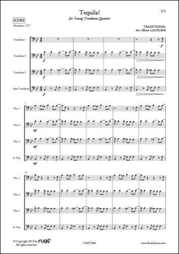 FLEX EDITIONS TRADITIONAL - TEQUILA ! - TROMBONE QUARTET Klassische Noten Posaune