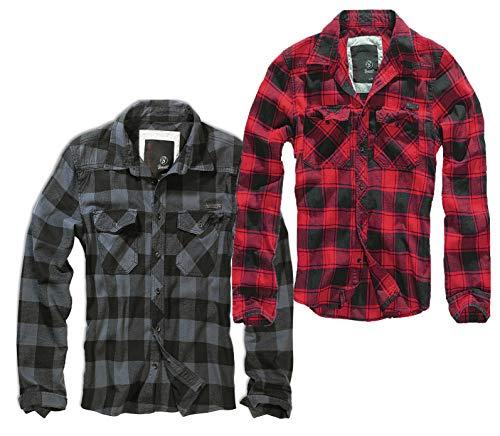 Brandit Check Shirt Herren Baumwoll Hemd 3XL Red-black