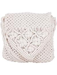 Saman Girls' Sling Bag (White, 15)