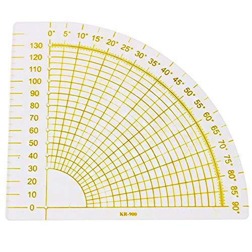 Ofgcfbvxd-tool righello da cucito fai da te righello for cucire righello for patchwork a forma di ventaglio for cucire fai-da-te per sartoria/progettazione di abbigliamento/ricamo