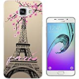 300 - Shabby Chic Floral Paris Eiffel Tower Design Samsung Galaxy A5 (2016) SM-A510F Fashion Trend Protecteur Coque Gel Rubber Silicone protection Case Coque