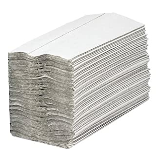 2WORK 1-Ply C-Fold Hand Towels, White, Pack of 2880