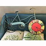 HONG- Uhr Europäischen Stil Moderne Retro Kreative Wanduhr Personalisierte Fahrrad Form Home Decoration Wohnzimmer Große Uhr
