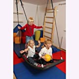 Große Mehrkindschaukel EDUCATION Farbe wählbar für 4 Kinder, 136 x 66 cm (silber/rot)