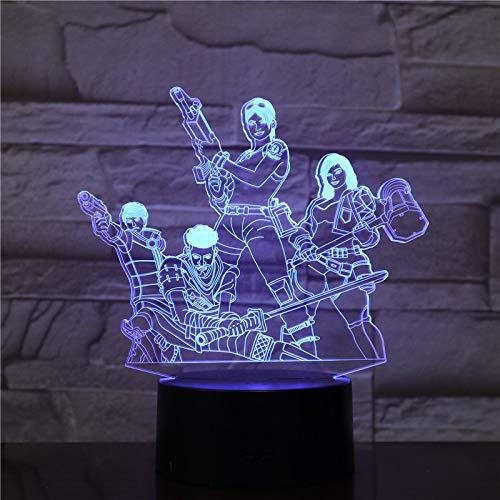 wangZJ 3d illusion lampe / 7 couleur lumière/décoration de chambre bébé/cadeau enfants/lampe de chevet lampe/équipe de jeu