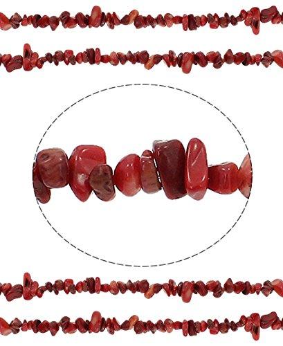Preisvergleich Produktbild 120 Natürliche Rote Koralle NATUR EDELSTEINPERLEN NATURSTEIN CHIPS 12mm G910