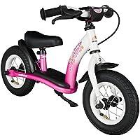 """Bikestar Bicicleta sin pedales para niños ★ 10 pulgadas ★ Color Rosa y Blanco ★ A partir de 2-3 años ★ 10"""" Clásico Edition 2018"""