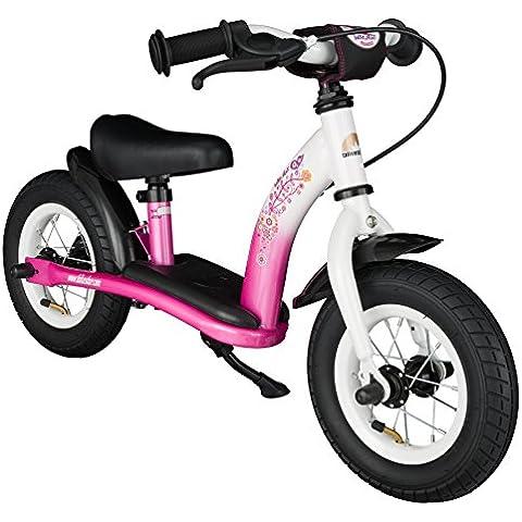 BIKESTAR® Premium 25.4cm (10 pulgadas) Bicicleta sin pedales para pequeños aventureros a partir de 2 años ★ Edición Clásica ★ Rosa &