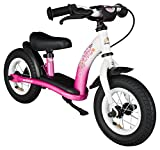 bike*star 25.4cm (10 Inch) Kids Learner Balance Beginner Run Bike Classic - Pink & White