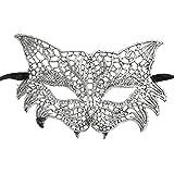 Mascarade Masque en dentelle, Malloom Catwoman Halloween Coupé La fête de graduation Masque Accessoires (Argent)