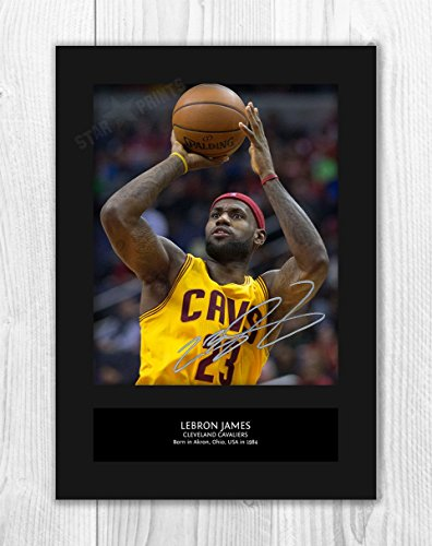 d01976b439b71 LeBron James - Cleveland Cavaliers - NBA 1 MT - Signed Autograph  Reproduction Photo A4 Print (Card Mounted)