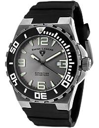 Swiss Legend SL-10008-GM-014 - Reloj analógico de cuarzo para hombre, correa de silicona color negro