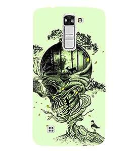 Fiobs Designer Phone Back Case Cover LG K3 :: LG K3 Dual K100 LS450 ( Skull Art High Tripping Art Work Tattoo )