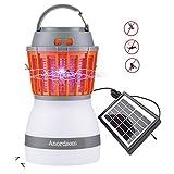 Anordsem LED Campinglampe Wiederaufladbar Mückenvernichter Insektenvernichter UV Licht mit Bug