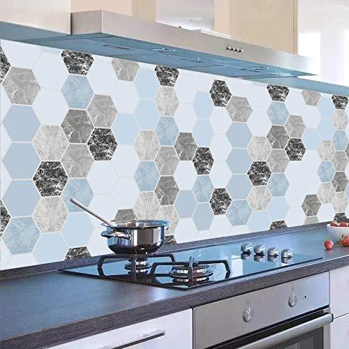 Carrelage Adhesif Mural 60X300Cm Autocollants De Cuisine Imperméables À L'Huile Étanches Auto-Adhésifs Cuisinière Avec Carreaux De Ciment Muraux Taches D'Huile Stickers Muraux Transparents