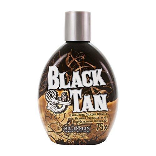 Bronzer Indoor Tanning Lotion (Millennium BLACK & TAN 75X Bronzer Indoor Dark ACCELERATOR Lotion Tanning N And by Millennium Tanning)