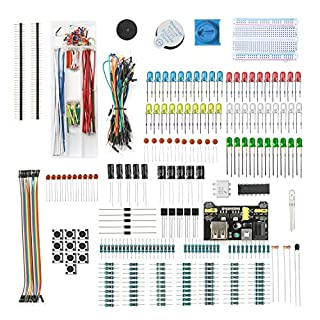 DEYUE Arduino Electronic Fun Kit Bundle | Basic Electronics Components Kit | for Arduino, Raspberry Pi, STM32 | Power Supply Module, Power Adaptor, Jumper Wire and …