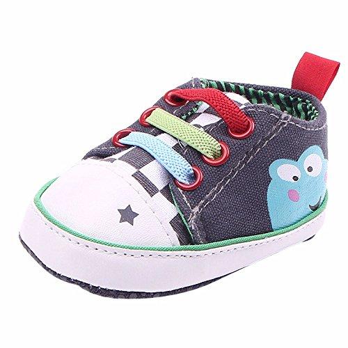 Süßigkeiten Mädchen Sandalen (HAUXIN❤ Baby Jungen Mädchen Segeltuch Kleinkind Turnschuh Rutschfeste,Erste Wanderer SüßIgkeits Schuhe 0-18 Monate,Kindermode Prewalker Single Sneakers,Neugeborene Canvas Sneaker Anti-Slip)