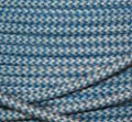Textilkabel Stoffkabel hellblau Zick Zack , 3-adrig rund , 3x0,7 von Globe Warehouse auf Lampenhans.de