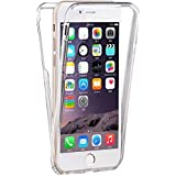 "Coque Gel iPhone 7 ( 4,7 pouces) 360 degres Protection INTEGRAL Anti Choc , Etui Ultra Mince Transparent INVISIBLE iPhone 7 (4.7"") [Stylet + 3 Films Inclus]"