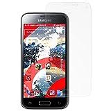 atFolix Panzerschutzfolie für Samsung Galaxy S5 Mini Panzerfolie - 3 x FX-Shock-Antireflex blendfreie stoßabsorbierende Displayschutzfolie