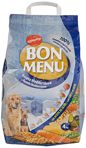 Affinity Bon Menu Receta Mediterránea Alimento Completo para Perros Adultos - 4000 gr