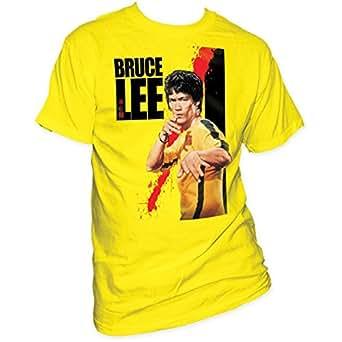 Bruce Lee - - Adulte sang court T-shirt à manches en jaune, Small, Jaune