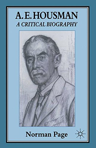 A. E. Housman: A Critical Biography for sale  Delivered anywhere in UK