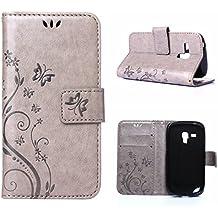 Samsung Galaxy S3 mini Coque, LANDEE Ultra-mince PU Cuir Etui Portefeuille pour Samsung Galaxy S3 mini i8190 i8200 Housse Case (S3M-P-0402)