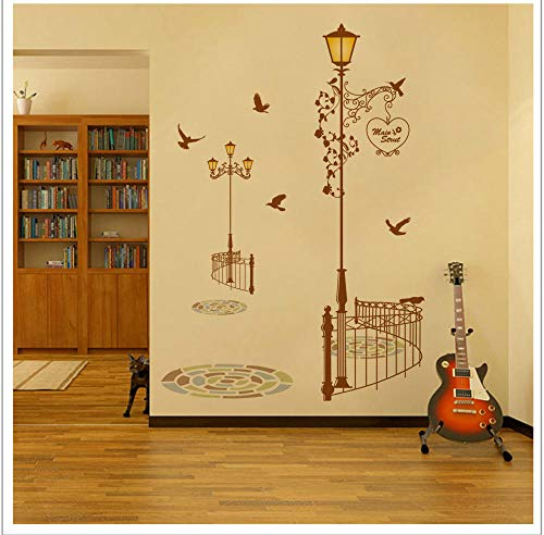 Creative Street Street Light Removable Wall Sticker Study Room Store Living Room Background Decorative Wall Jm7258 95 * 160Cm - London Street Lights