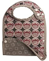 Pop-In Close Reversible Weaning Bib (Stage 2, Red Monkey)