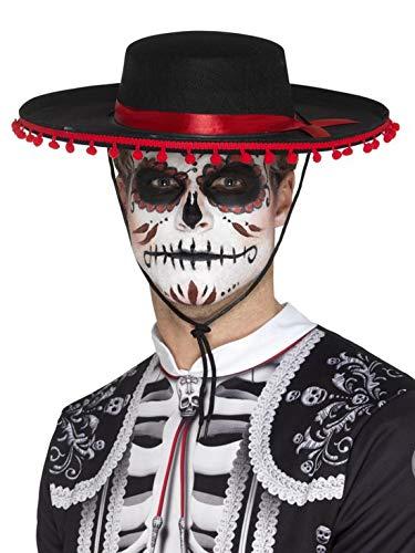 Halloweenia - Herren Day of The Dead Hut im Spanischen Senor Look, Kostüm Accessoires Zubehör, perfekt für Halloween Karneval und Fasching, - Spanische Senor Kostüm