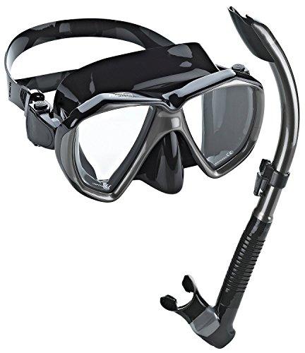 Phantom Aquatics Velocity set snorkeling, boccaglio Combo Set Maschera (Fibbia Combo)