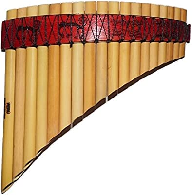 Profesional Perú Nasca líneas diseño curvado flauta de pan, Antara, 20tubos–incluye funda