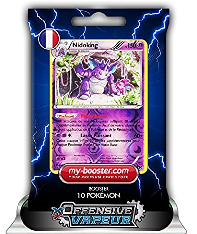 NIDOKING holo reverse 45/114 150PV XY11 OFFENSIVE VAPEUR - Booster de 10 cartes Pokemon francaises my-booster