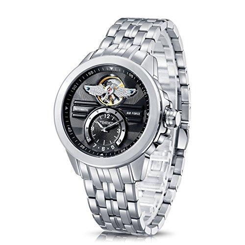 Time100 Orologio Scheletro Display dual-time in Acciaio Analogico Uomo#W60049G.03A
