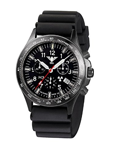 KHS Tactical Watches Black Platoon Titan Chronograph KHS.BPTC.D Titan IPB Diver