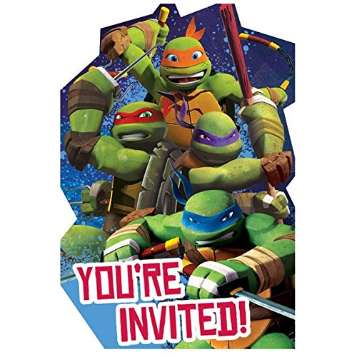 Turtles Einladungskarten mit Sticker-Siegeln, 8 Stück ()