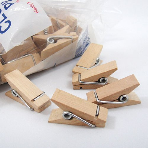 Nopea Holzclip Mini Clips Handwerk Stöpsel Kleidung Clips Holz Stöpsel Kunst Holz Wäscheklammer Miniklammern Clipart 50 Stück