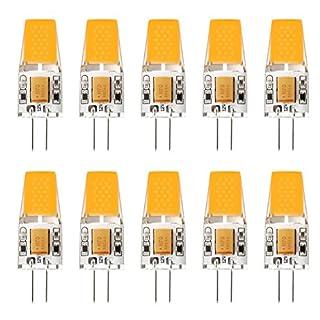 Ascher 10er Pack G4 LED 3W Lampe - vgl. 30W Halogen - 300 Lumen - G4 LED Warmweiß - AC/DC 12V- LED Leuchtmittel 360°