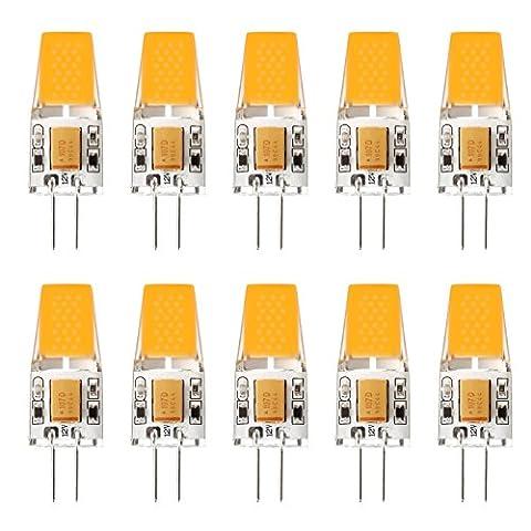 Ascher 10er Pack G4 LED 3W Lampe - vgl. 30W Halogen - 300 Lumen - G4 LED Warmweiß - AC/DC 12V- LED Leuchtmittel