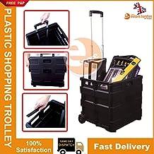 Estore® Nueva 25 kgblack plástico plegable Multi uso rueda carro cajón caja plegable para carro