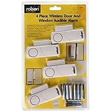 Rolson 66845 - Alarma inalámbrica para ventanas y puertas (4 unidades) [Importado de