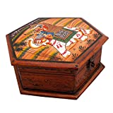 Depawali exclusive New Hand Painted Octagonal Wooden Art Jewelry Box Home|home decoratives|handicrafts|special|unique|desiner|handmade|antique items