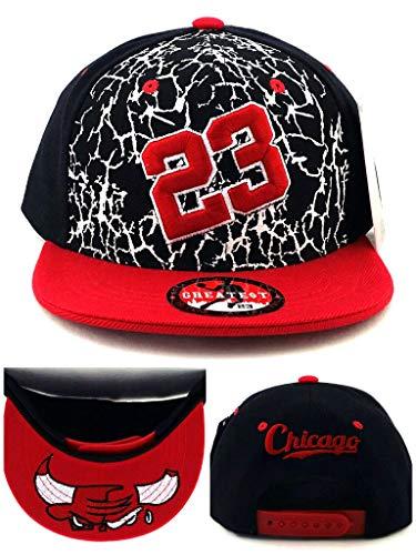 GREATEST PRODUCTS Greatest Produkte Chicago Neu Greatest 23MJ gebrochenen Jordan Bulls Schwarz Weiß Rot Zement Era Snapback Hat Cap (Jordans Schwarz Und Rot)