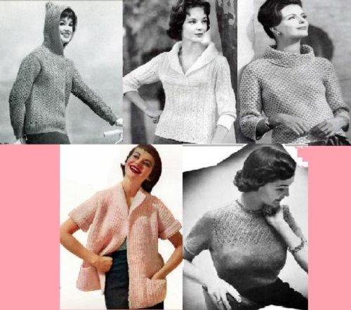 Patrones de tejer con estilo vintage para suéteres de las mujeres por Unknown