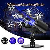 LED Proiettore Luci Natale, Proiettore Fiocchi di Neve , Star Spotlight di Paesaggio Lampada LED per la Festa Natale o Il Matrimonio o la Decorazione di Party Luce Multicolore per il Giardino